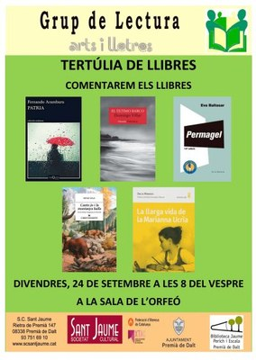 Tertúlia de llibres - Grup de lectura