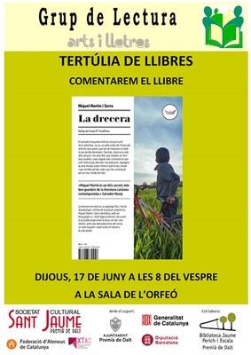 """Tertúlia de llibres sobre """"La drecera"""" de Miquel Martín i Serra"""