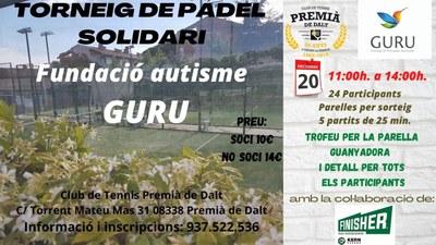 Torneig  solidari de pàdel amb la Fundació autisme GURU