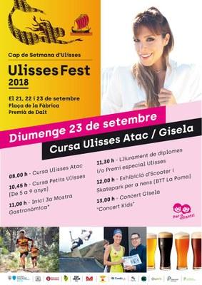 Ulisses Fest 2018: cursa Ulisses Atac i cursa Petits Ulisses, mostra gastronòmica i exhibició d'scooter i skatpark per a infants amb el BTT La Poma