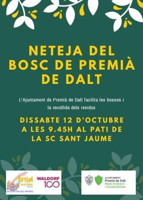 Veniu amb la família a la jornada de neteja del bosc de Premià de Dalt amb Krisol Waldorf Maresme!