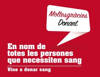 Vine a donar sang!