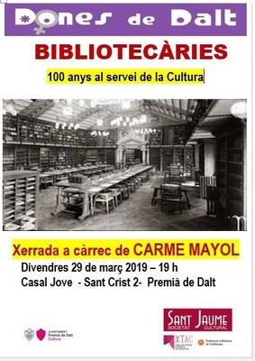 Xerrada: Bibliotecàries, 100 anys al servei de la Cultura