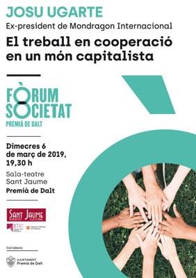 Xerrada, 'El treball en cooperació en un món capitalista', a càrrec de Josu Ugarte