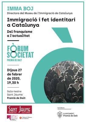 Xerrada 'Immigració i fet identitari a Catalunya: del Franquisme a l'actualitat'
