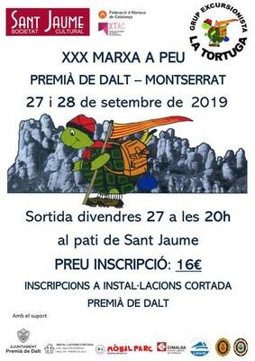 XXX Marxa a peu Premià de Dalt - Montserrat