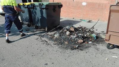 8 contenidors cremats, el balanç de la Revetlla de Sant Joan a Premià de Dalt