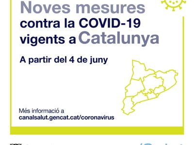 A partir del divendres 4 de juny, noves mesures per a la contenció de la COVID-19 aplicables a tot Catalunya