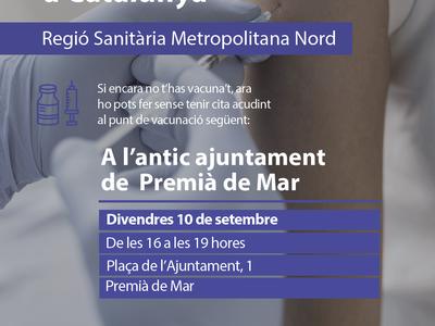 Acció de vacunació sense cita prèvia dirigida a les poblacions de Premià de Dalt i Premià de Mar