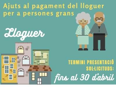 Ajuts al pagament del lloguer a gent gran, any 2021, de l'Agència de l'Habitatge de Catalunya