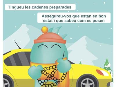 Consells preventius davant la previsió de nevades en cotes baixes