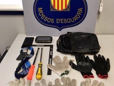 Detingut un grup de lladres d'habitatges que pretenia robar al Baix Maresme