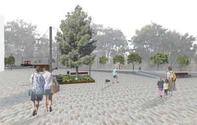 Dimarts 3 d'abril també comencen les obres de transformació de la plaça Mil·lenari