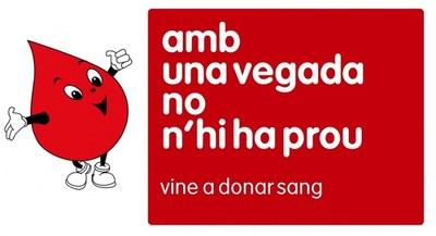 Dissabte 25 de maig vine a donar sang!