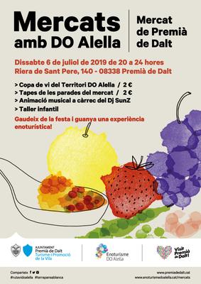 Dissabte 6 de juliol, 2a edició dels Mercats amb DO Alella a Premià de Dalt