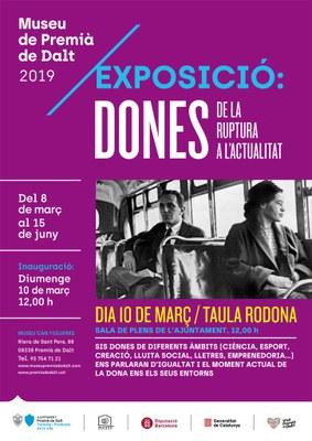 Diumenge 10 de març s'inaugura l'exposició 'Dones, de la ruptura a l'actualitat'
