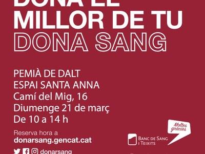 El 21 de març, nova campanya de donació de sang a Premià de Dalt