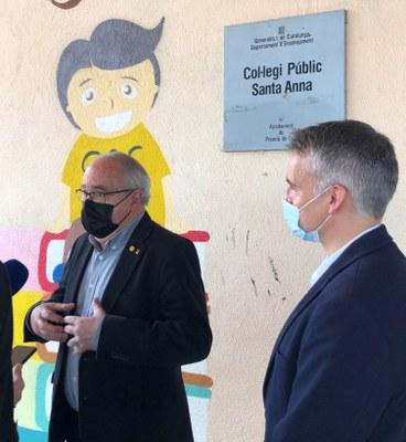 El Conseller d'Educació visita l'Escola Santa Anna de Premià de Dalt