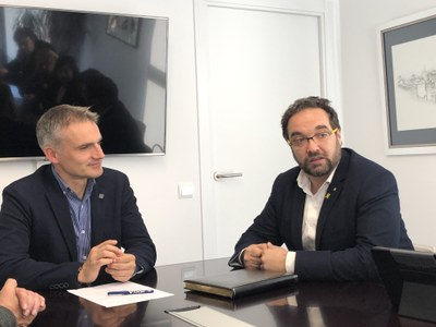 El Delegat del Govern de la Generalitat visita Premià de Dalt