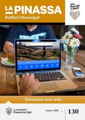 El nou web és la portada de la revista municipal de febrer