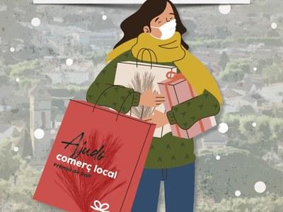 El suport al comerç local per Nadal, portada de 'La Pinassa'