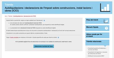 El web de l'ORGT habilita les autoliquidacions de l'ICIO per l'inici de l'obra