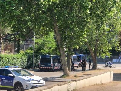 Els Mossos d'Esquadra desallotgen pacíficament un habitatge ocupat a Premià de Dalt
