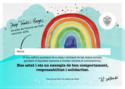 Els nens i nenes de Premià de Dalt d'entre 3 i 12 anys comencen a rebre un diploma especial i el darrer conte infantil