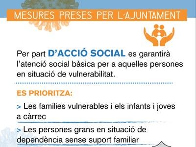Els Serveis Socials municipals es reforcen davant la COVID_19