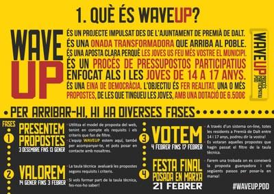 Tens entre 14 i 17 anys i ets de Premià de Dalt? Participa a Wave UP!