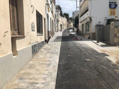 Enllestida la nova pavimentació del carrer de la Cisa