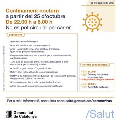 Entra en vigor el confinament nocturn a Catalunya