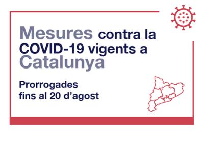 Es prorroguen les mesures anti Covid-19 fins al 20 d'agost