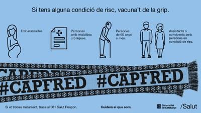 Hivern, #CAPFRED, la campanya de vacunació contra la grip ja és aquí