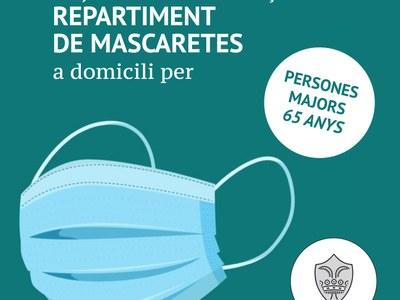 L'Ajuntament comença a repartir porta per porta mascaretes a les persones majors de 65 anys