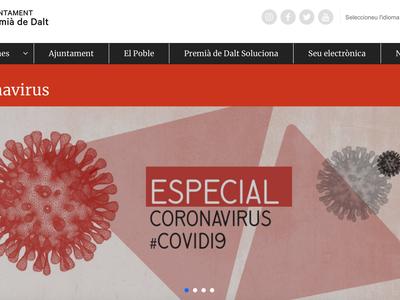 L'Ajuntament crea un apartat sobre el coronavirus al web municipal