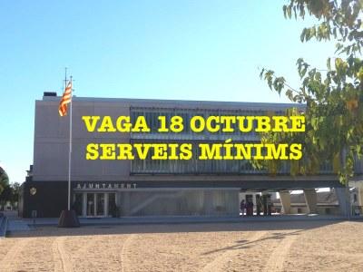 L'Ajuntament de Premià de Dalt estableix serveis mínims per la vaga general del divendres 18 d'octubre
