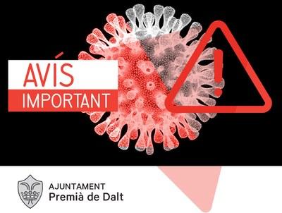 Premià de Dalt s'afegeix al manifest per reclamar un confinament 'més estricte'