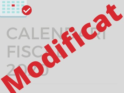 L'Ajuntament modifica el Calendari Fiscal 2020
