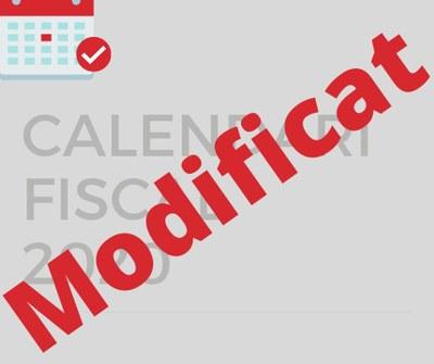 L'Ajuntament modifica el Calendari Fiscal 2020
