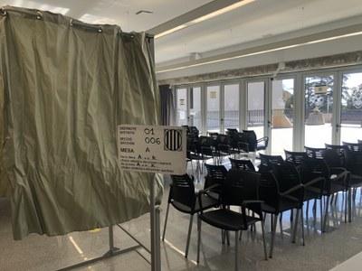 L'Ajuntament treballa perquè diumenge 14F es voti amb totes les garanties sanitàries