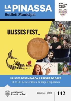La celebració d'Ulisses Fest, portada de la revista municipal de setembre