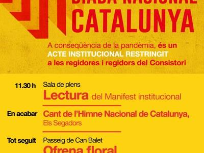 La commemoració de la Diada a Premià de Dalt, afectada per la Covid 19