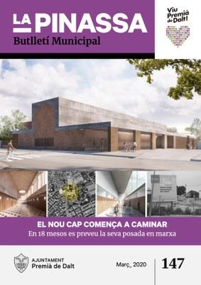 La construcció del nou CAP de Premià de Dalt, portada de La Pinassa 147