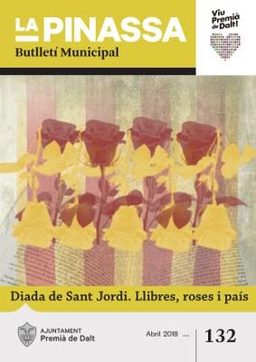La Diada de Sant Jordi, portada de la revista municipal del mes d'abril