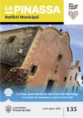 La inclusió de la Cisa dins del Camí de Santiago, portada de 'La Pinassa' de juliol i agost