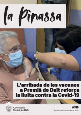 La vacunació anti-Covid19 a la Llar d'Avis El Carme és la portada de la revista de febrer 2021