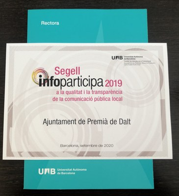 L'Ajuntament rep novament el Segell Infoparticipa, amb el 100% dels indicadors