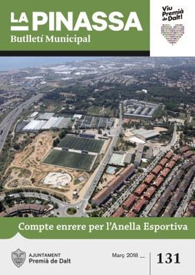 L'anella esportiva, portada de la revista municipal de març