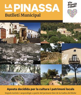 L'aposta per la Cultura i Patrimoni locals, portada de 'La Pinassa' de novembre